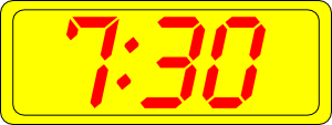 free vector Digital Clock 7:30 clip art