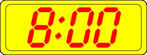 free vector Digital Clock 8:00 clip art