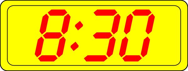 free vector Digital Clock 8:30 clip art