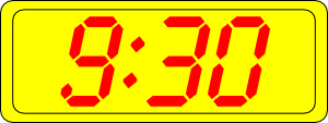 free vector Digital Clock 9:30 clip art