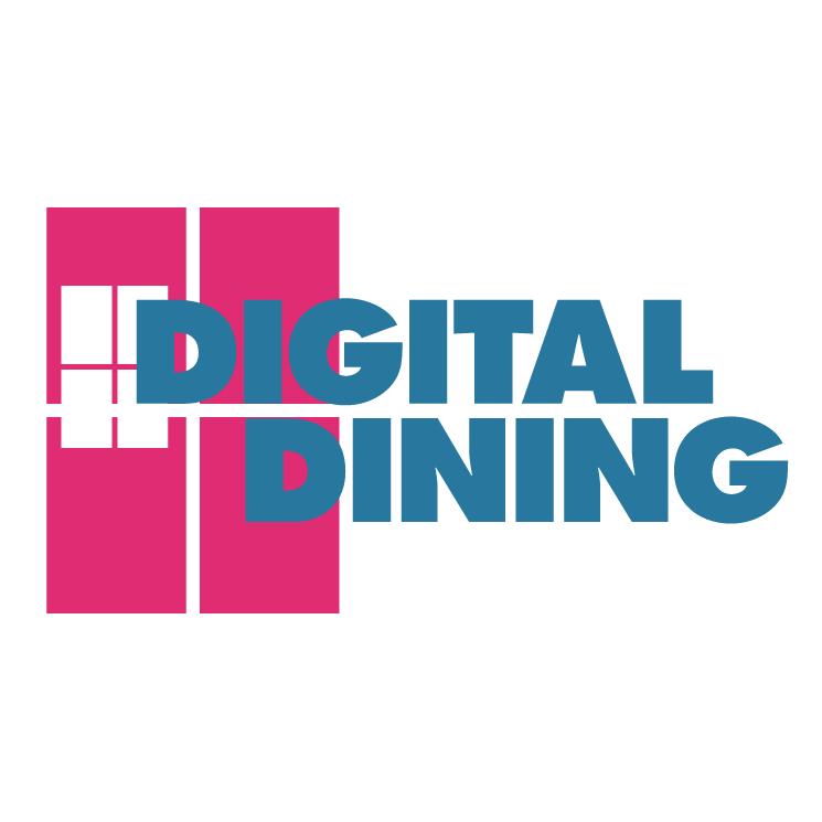 free vector Digital dining