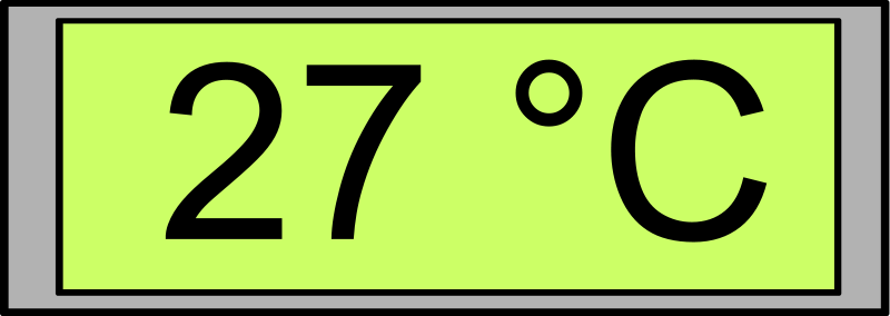 free vector Digital Display with Temperature 27°C