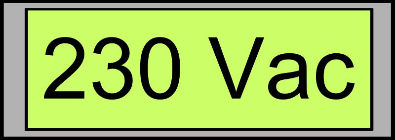 free vector Digital Display with Voltage 230 Vac