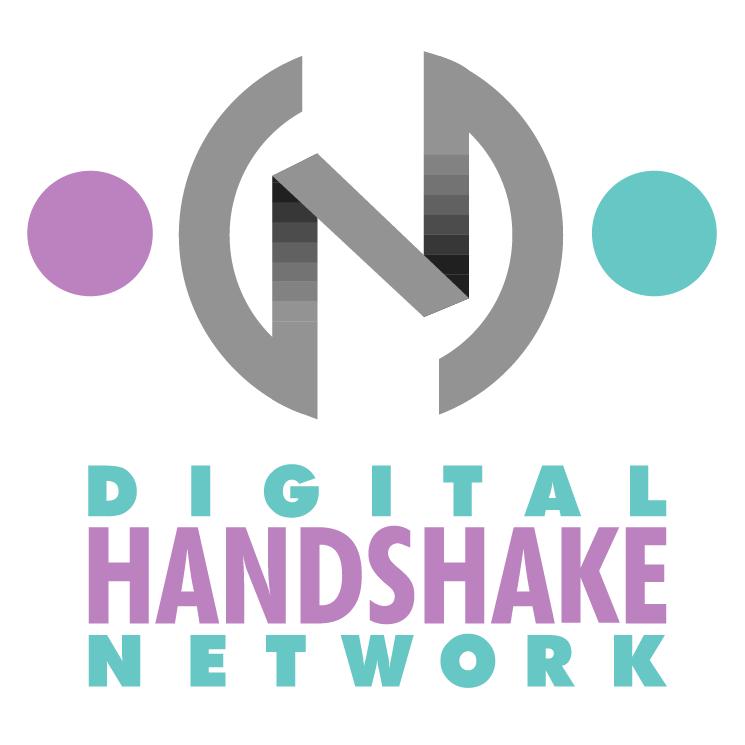 free vector Digital handshake network