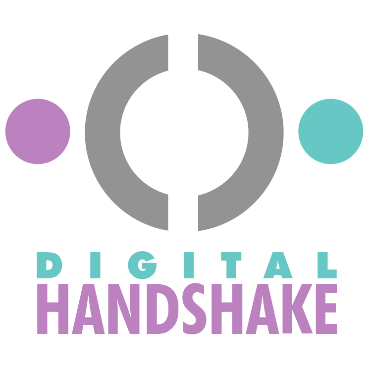 free vector Digital handshake