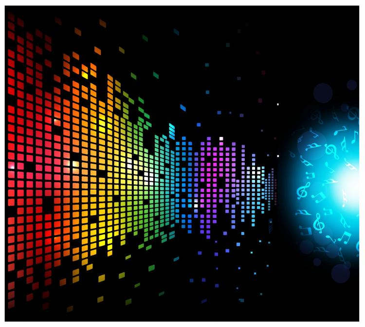 free vector Digital music background