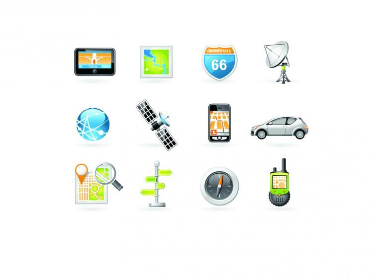 free vector Digital navigation equipment vector