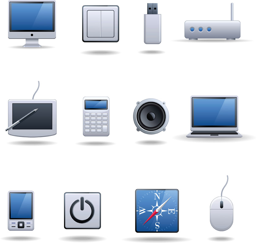 technology digital icon vector 4vector eps eq