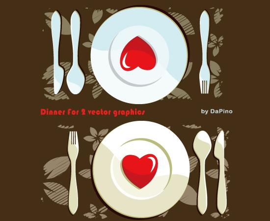free vector Dinner For 2