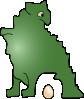 free vector Dinosaur Laid An Egg clip art