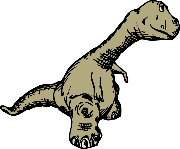 free vector Dinosaur Sideview clip art