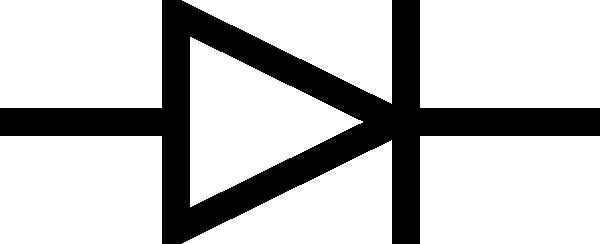 free vector Diode Symbol clip art