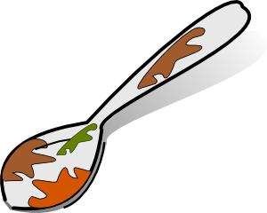 free vector Dirty Spoon clip art