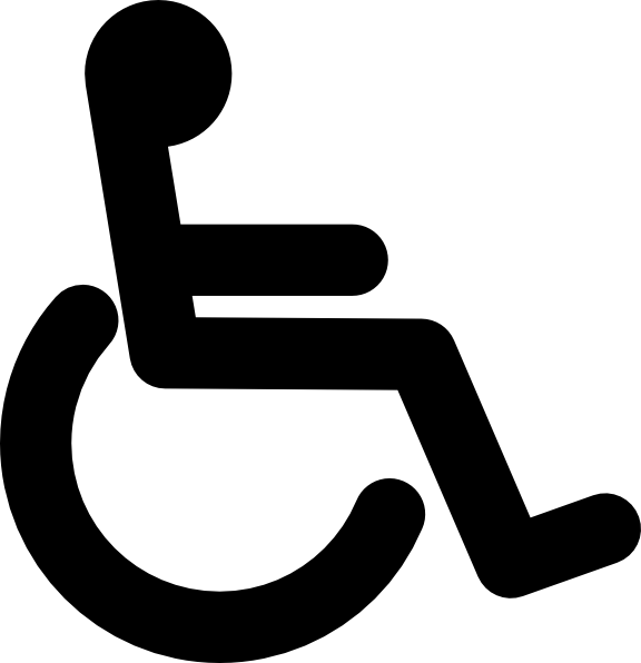 disabled wheel chair access sign clip art free vector 4vector rh 4vector com handicap vector logo handicap vector symbol