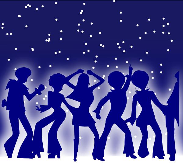 free vector Disco Dancers clip art