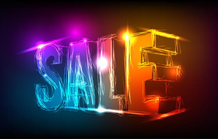 free vector Discount gorgeous neon background 03 vector