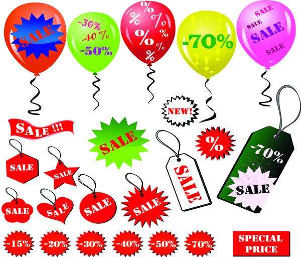 free vector Discount sales element vector