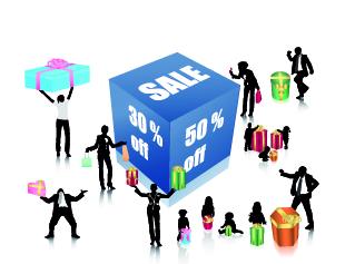free vector Discount sales figures vector with