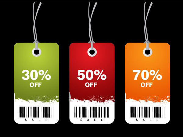 free vector Discount sales tag vector
