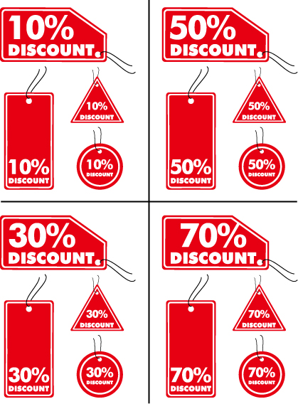 free vector Discount sales tag vector