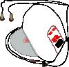 free vector Diskman clip art