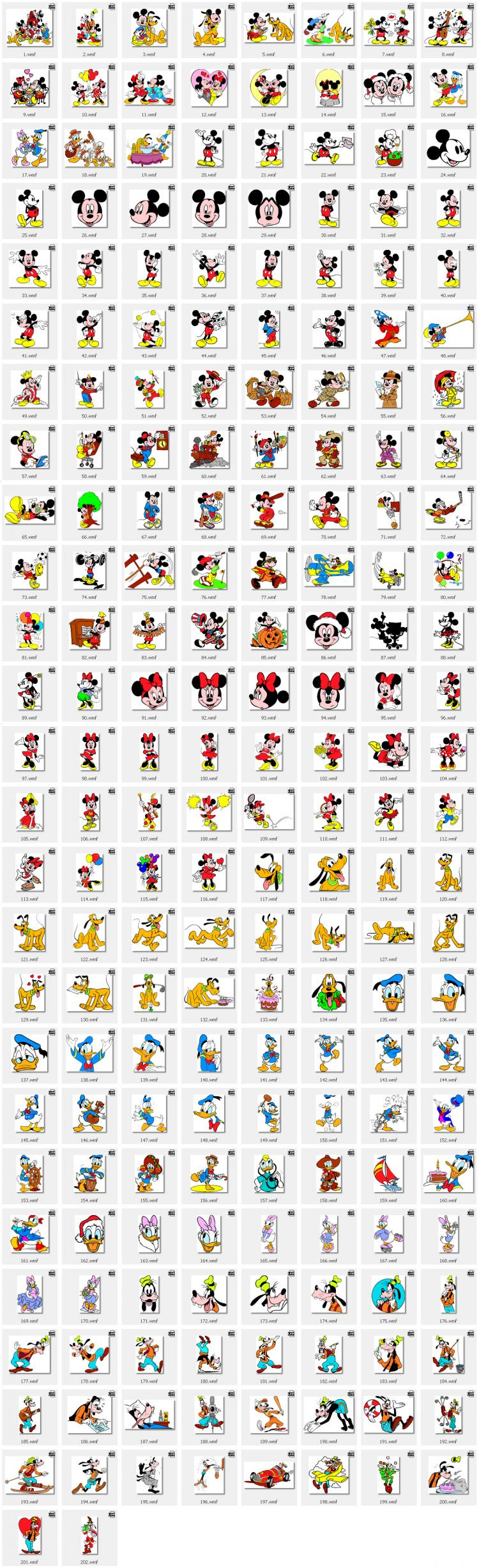 free vector Disney, Mickey Mouse, Donald Duck, Mickey Mouse, Minnie, Pluto