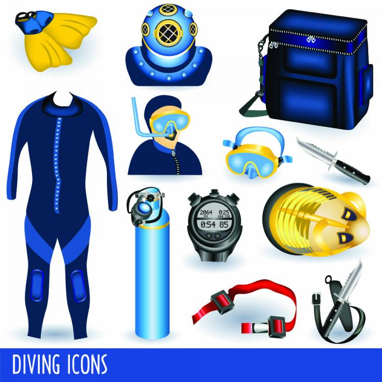 free vector Diving equipment 01 vector