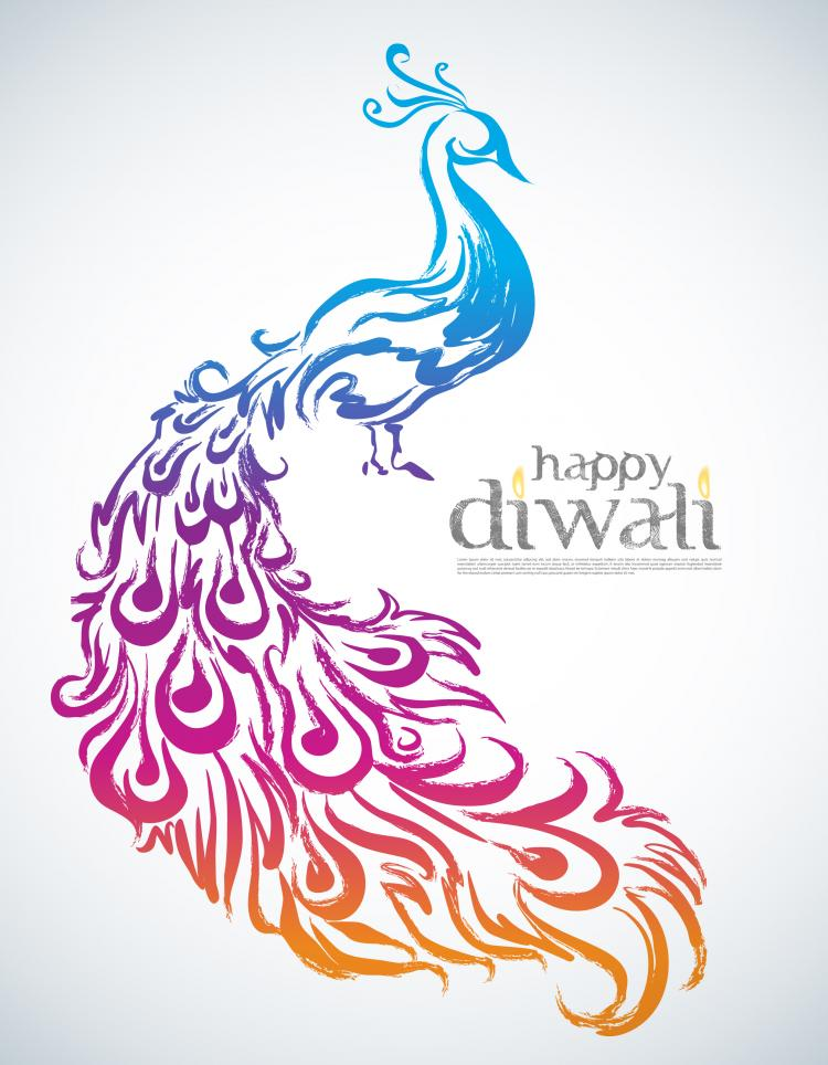 free vector Diwali background 01 vector