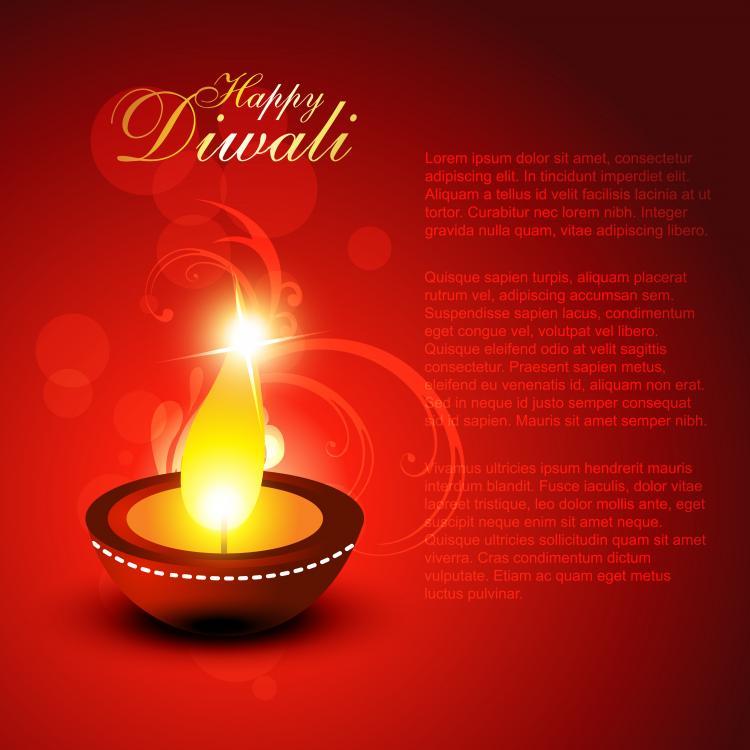 free vector Diwali beautiful background 01 vector