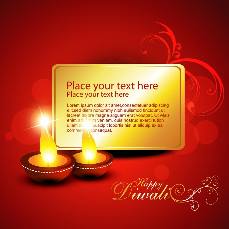 free vector Diwali beautiful background 02 vector