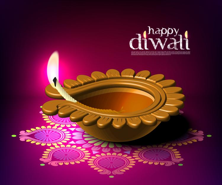 free vector Diwali beautiful background 04 vector