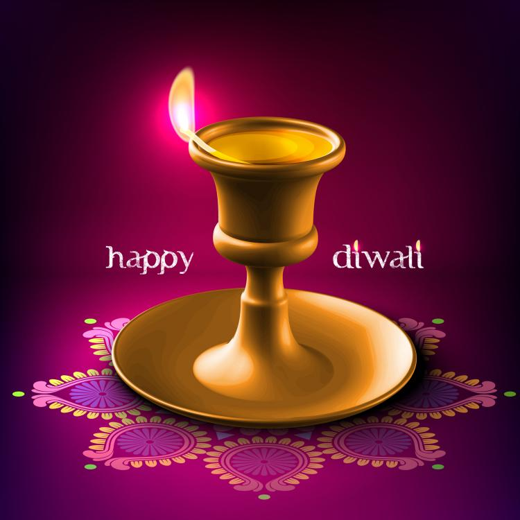 free vector Diwali beautiful background 05 vector