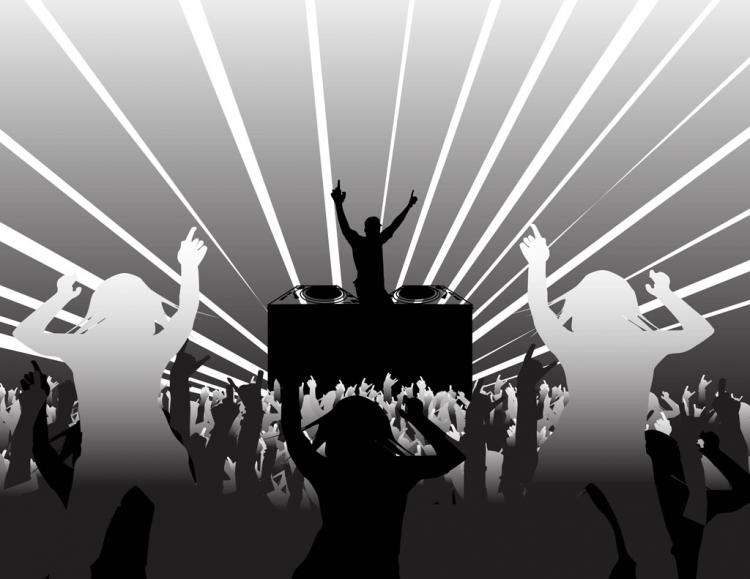free vector DJ and Party People