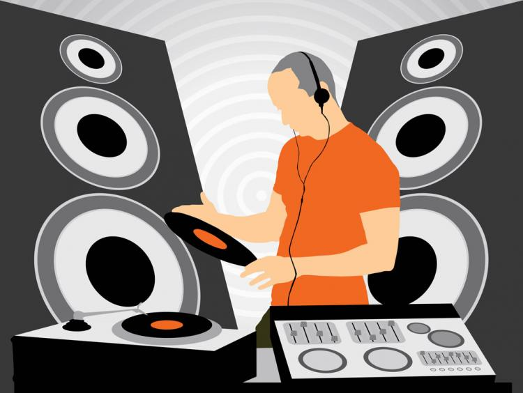 free vector DJ at Work