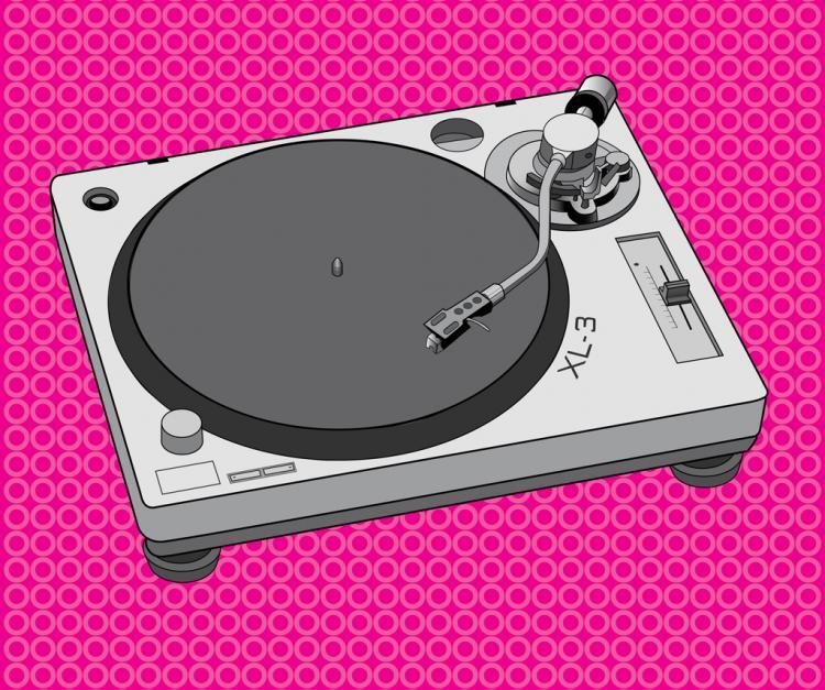 free vector DJ Equipment Turntable Design