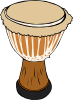 free vector Djambe Drum clip art