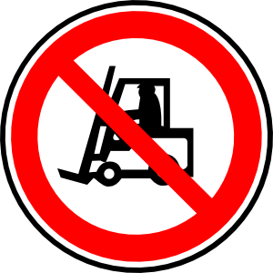 free vector Do Not Carry With Vehicles clip art