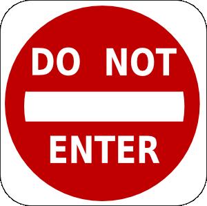 free vector Do Not Enter Sign clip art