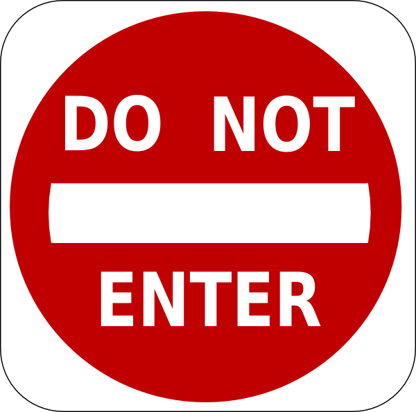 free vector Do Not Enter Sign clip art