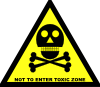 free vector Do Not Enter Toxic Zone Sign clip art