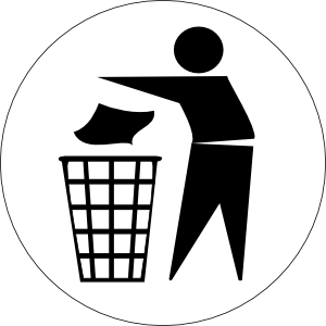 doctormo put rubbish in bin signs clip art free vector 4vector