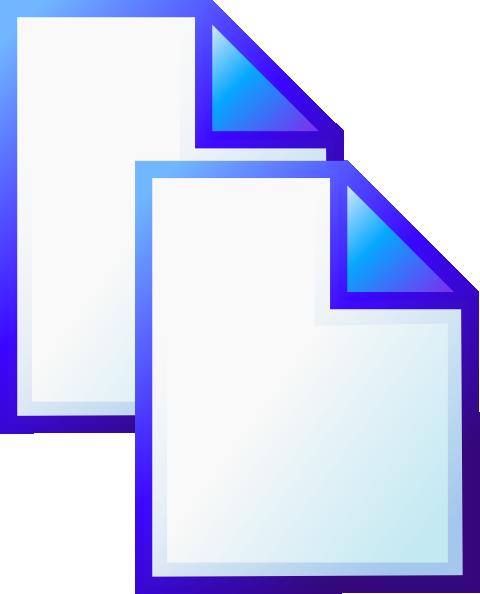 free vector Document Copy clip art