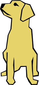 free vector Dog 01 Drawn With Straight Lines clip art