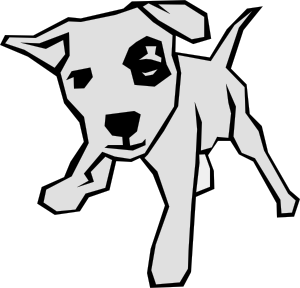 free vector Dog 03 Drawn With Straight Lines clip art