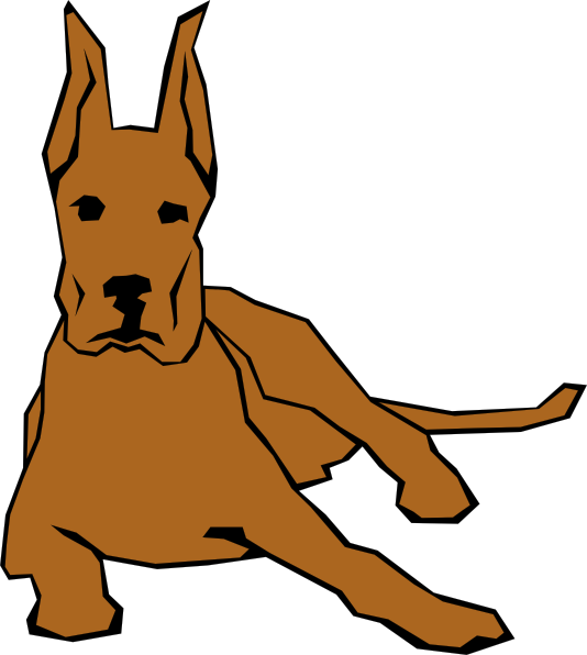 free vector Dog 05 Drawn With Straight Lines clip art