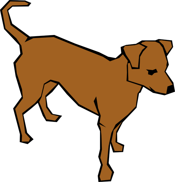 free vector Dog 06 Drawn With Straight Lines clip art