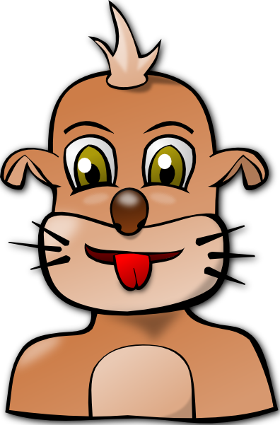 free vector Dog Face Cartoon clip art