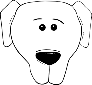 free vector Dog Face Cartoon World Label clip art