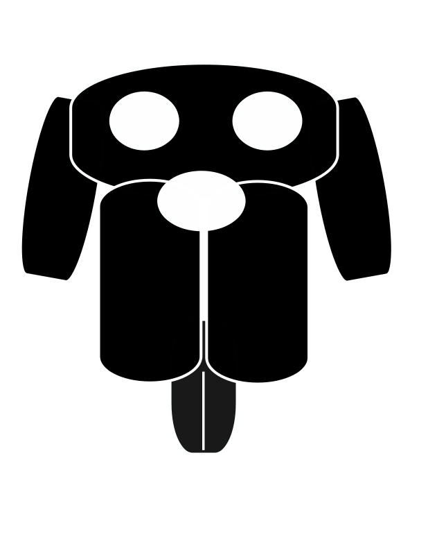 free vector Dog face.