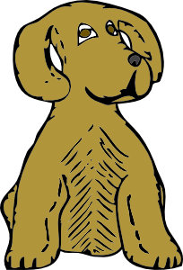 free vector Dog Front View clip art